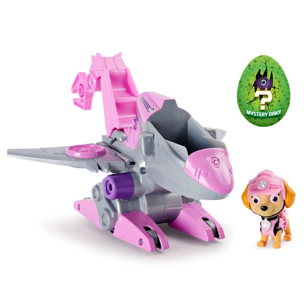 PAW Patrol Dino Rescue Skye's Deluxe Rev Up Vehicle with Mystery Dinosaur Figure