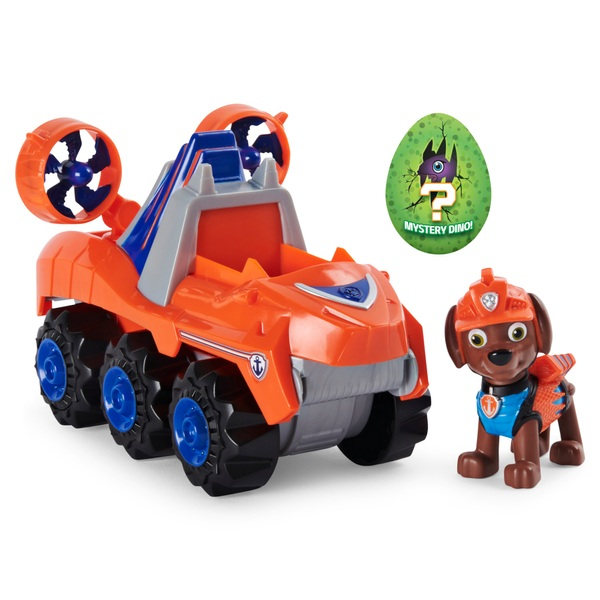 PAW Patrol Dino Rescue Zuma's Deluxe Rev Up Vehicle with Mystery Dinosaur Figure