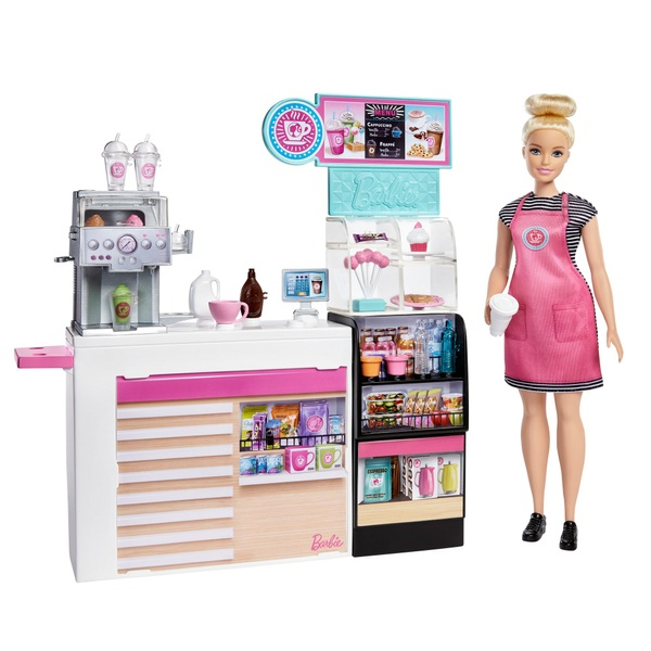 Barbie Coffee Shop Playset with Doll