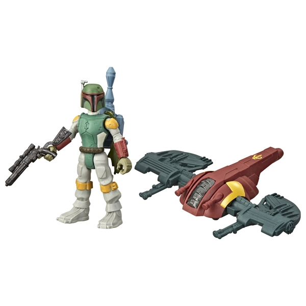 Star Wars Mission Fleet Gear Class Boba Fett Capture in the Clouds Figure and Vehicle