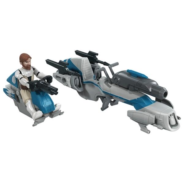 Star Wars Mission Fleet Expedition Class Obi-Wan Kenobi Jedi Speeder Chase Figure