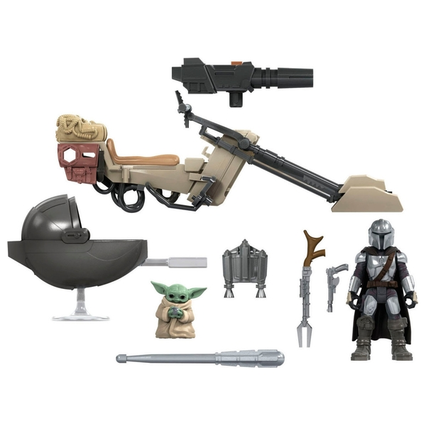 "Star Wars Mission Fleet The Mandalorian The Child ""Baby Yoda"" Battle for the Bounty Figures"