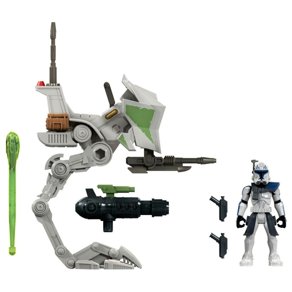 Star Wars Mission Fleet Expedition Class Captain Rex Clone Combat Figure and Vehicle