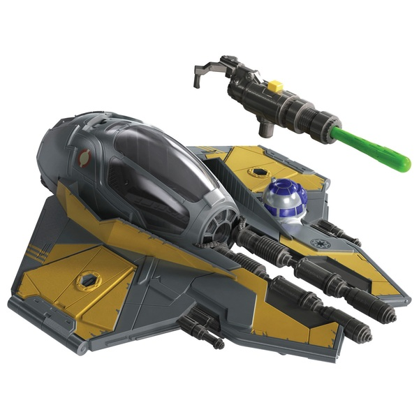 Star Wars Mission Fleet Stellar Class Anakin Skywalker Jedi Starfighter Figure and Vehicle