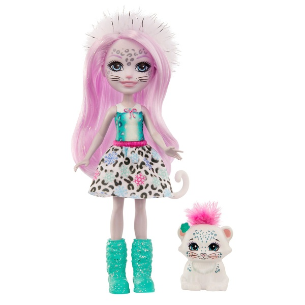 Enchantimals Sybill Snow Leopard Doll and Flake
