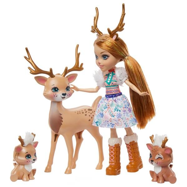 Enchantimals Rainey Reindeer Doll Family