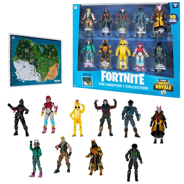 Fortnite The Chapter 1 Collection - 10 Collectible Figure Pack