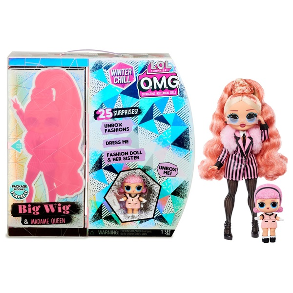 L.O.L. Surprise! O.M.G. Winter Chill Big Wig & Madame Queen Doll with 25 Surprises
