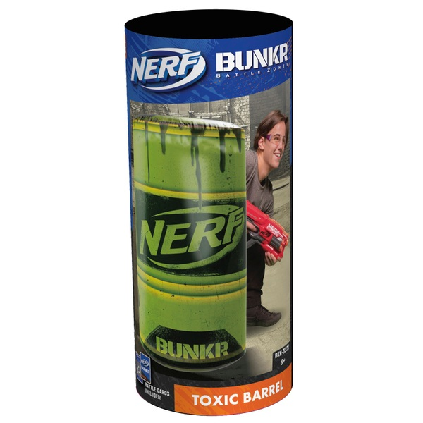 NERF Bunkr Take Cover Toxic Barrel
