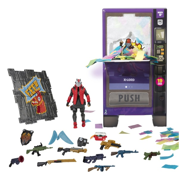 Fortnite Vending Machine with X-Lord Action Figure