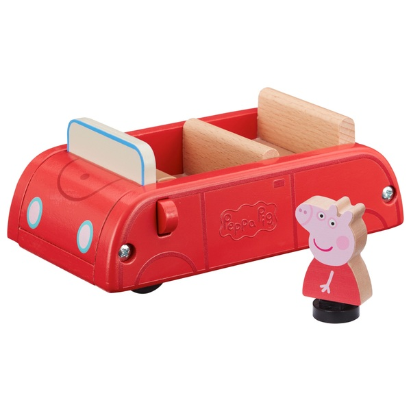 Peppa Pig's Wooden Red Car and Figure