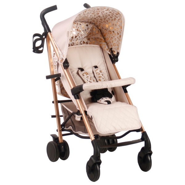 My Babiie Katie Piper Believe MB51 Rose Gold and Blush Leopard Stroller