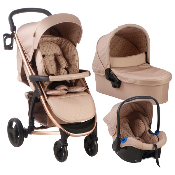 My Babiie Dreamiie Samantha Faiers MB200+ Mocha Travel System & Car Seat