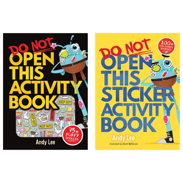Do Not Open This Sticker and Activity Book,  Twin Pack By Andy Lee