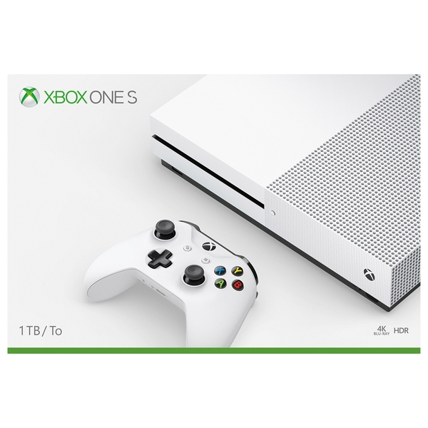 Xbox One S 1TB Console (Inc 1 Controller, 1m Xbox Game Pass & 14 Days Xbox Gold)