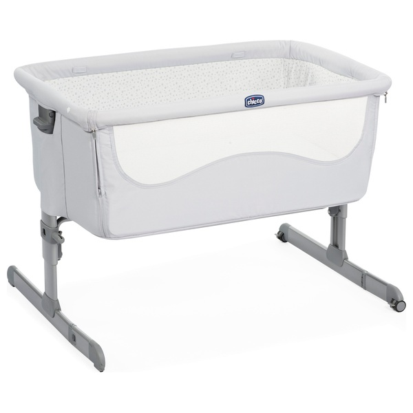 Chicco Next2Me Side Sleeping Crib Light Grey