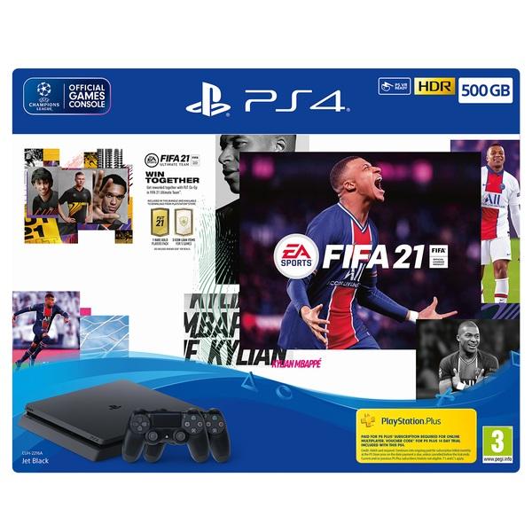EA SPORTS FIFA 21 500GB PS4 Console + Second DUALSHOCK 4 Wireless Controller Bundle