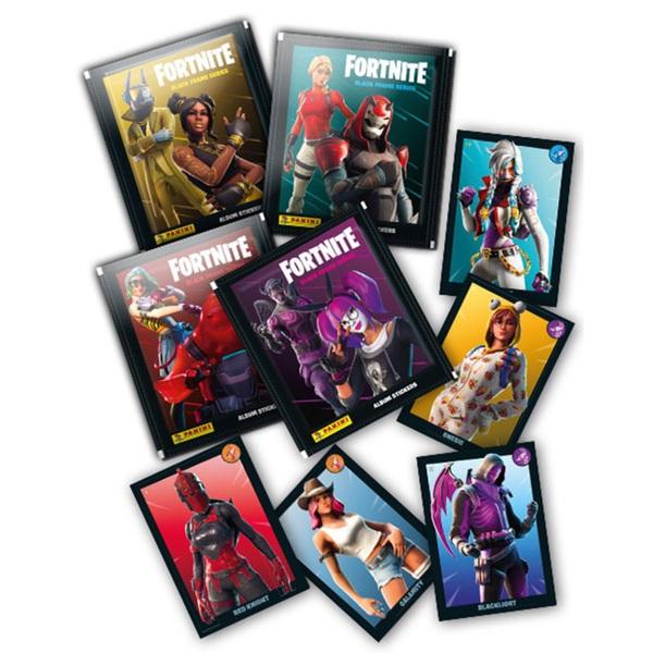 Fortnite Black Frame Series Sticker Collection Starter Pack