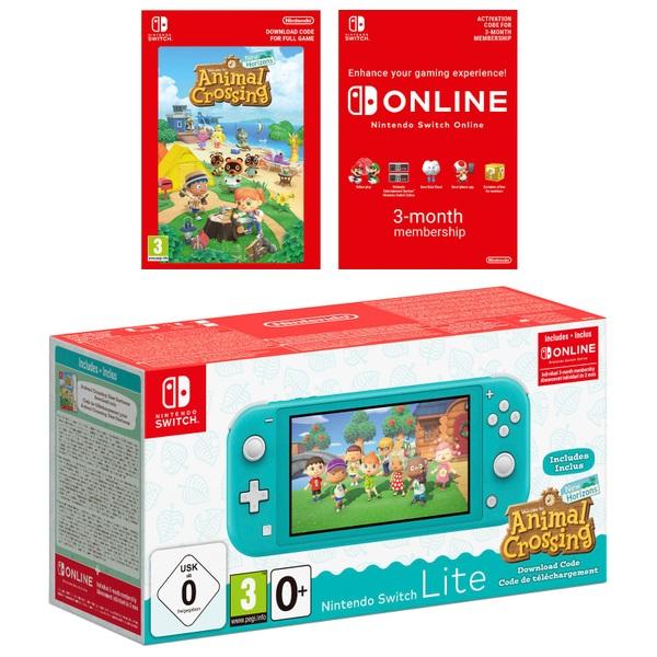 Nintendo Switch Lite Turquoise + Animal Crossing ...