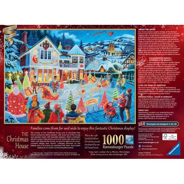 Ravensburger Christmas Puzzle 2021 Ravensburger The Christmas House 2021 Special Edition 1000 Piece Jigsaw Puzzle Smyths Toys Ireland
