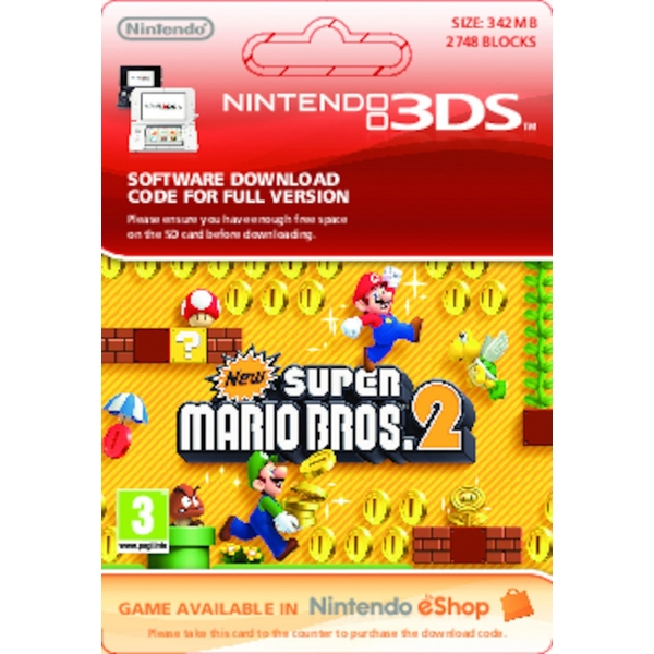 New Super Mario Bros  2 - Nintendo 3DS (Digital Download) - Nintendo  Digital Downloads Ireland