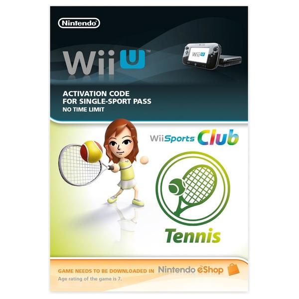 Wii Sports Club Tennis Wii U Download Card Nintendo