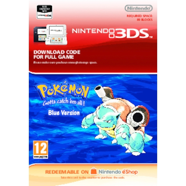 Pokémon Blue - Nintendo 3DS (Digital Download)