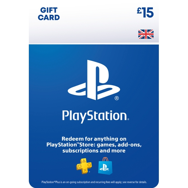 PlayStation® Wallet Top-up: £15.00 GBP