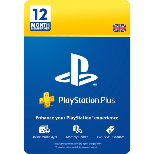 PlayStation Plus 12 Month Membership (Digital Download)