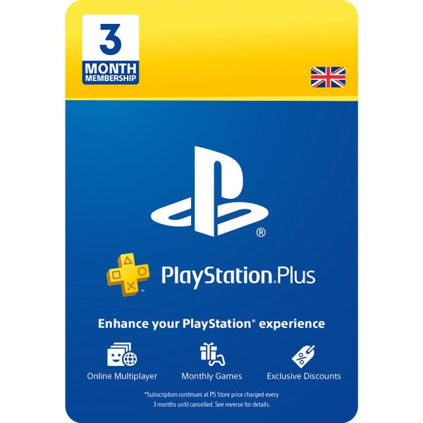 PlayStation Plus 3 Month Membership (Digital Download)