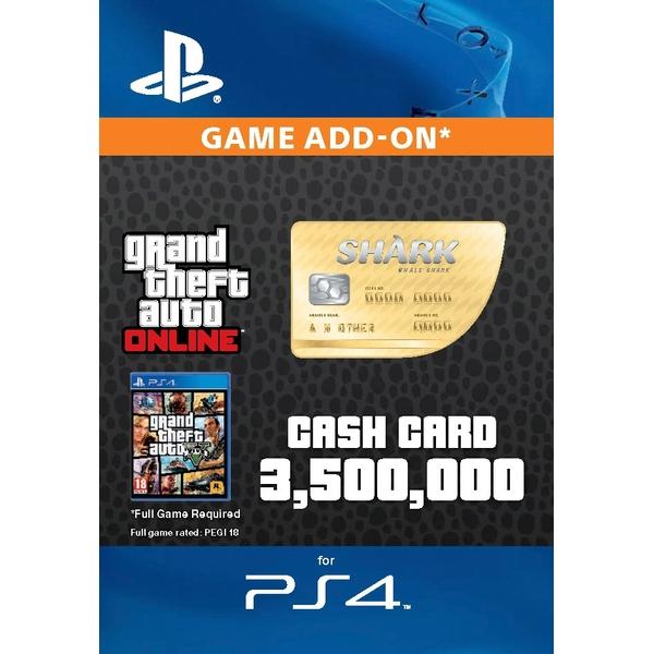 GTA V: Whale Shark Cash Card - PS4 (Digital Download)