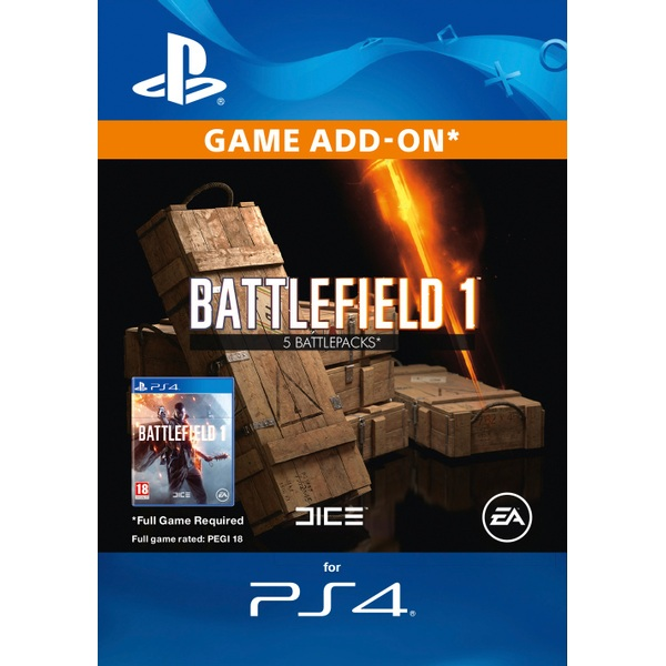Battlefield 1 Battlepacks x5 Digital Download