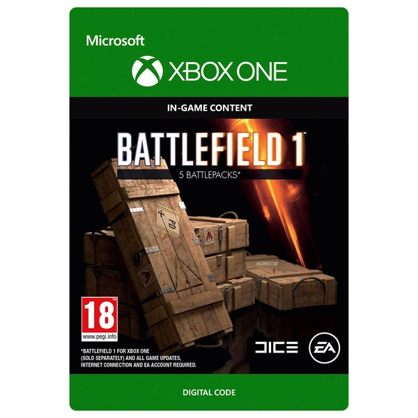 Battlefield 1 Battlepacks x5 Digital Download - Xbox One Games & Games  Add-Ons Ireland
