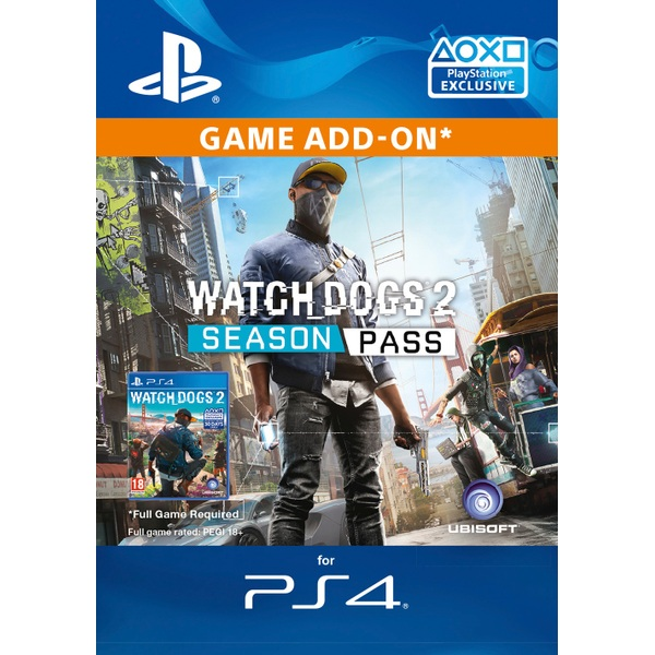 Watch Dogs 2 Season Pass PS4 Digital Download