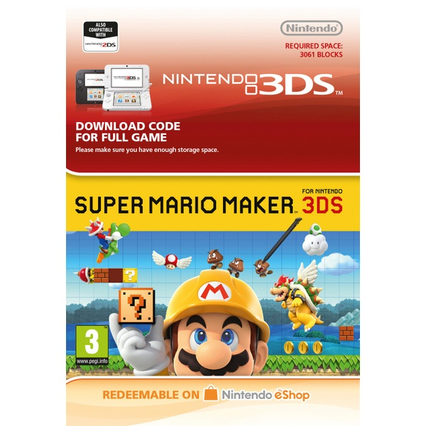 Super Mario Maker 3DS Digital Download