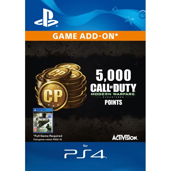 5,000 Call of Duty MW Remastered PS4 Points Digital Download