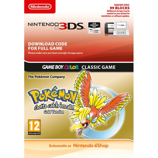 Pokémon Gold 3DS Digital Download