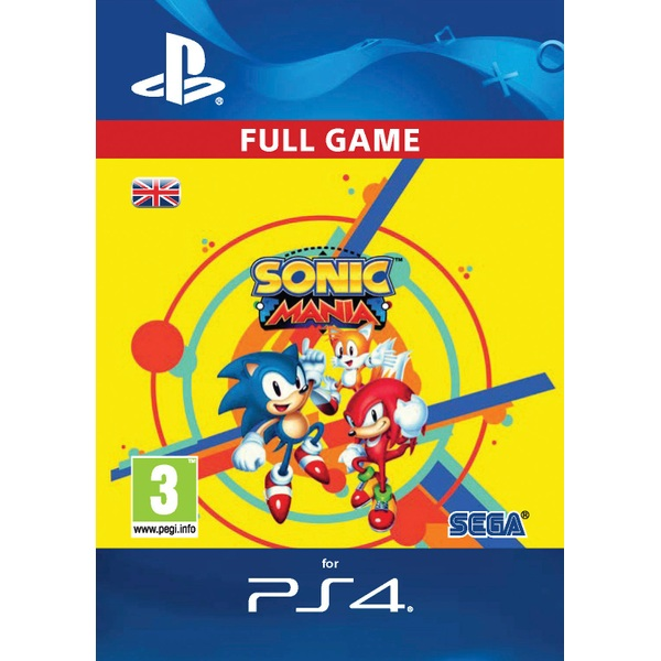 Sonic Mania PS4 Digital Download - PlayStation 4 Games & Games Add-Ons UK