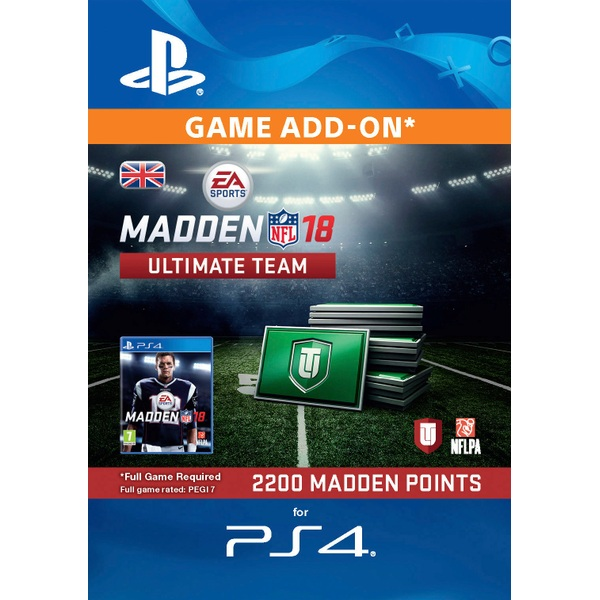 2200 Madden NFL 18 Ultimate Team Points PS4 Digital Download