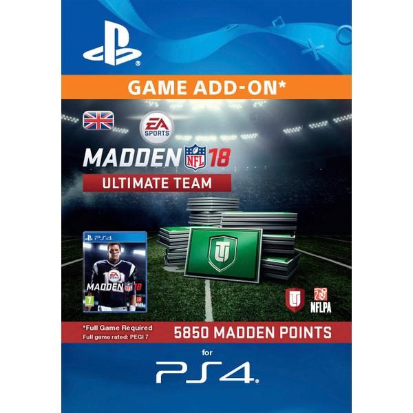 5850 Madden NFL 18 Ultimate Team Points PS4 Digital Download