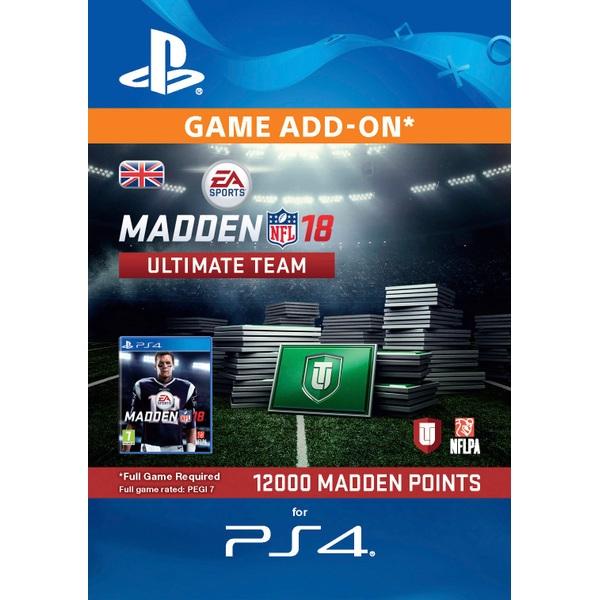12000 Madden NFL 18 Ultimate Team Points PS4 Digital Download