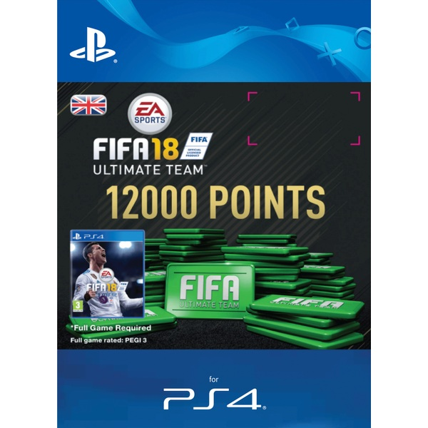 12000 FIFA 18 Points Pack PS4 Digital Download