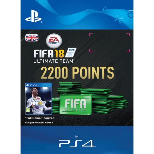 2200 FIFA 18 Points Pack PS4 Digital Download
