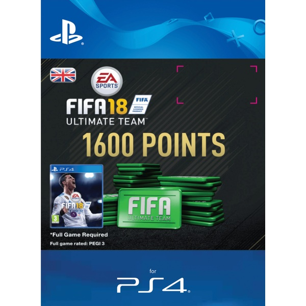 1600 FIFA 18 Points Pack PS4 Digital Download