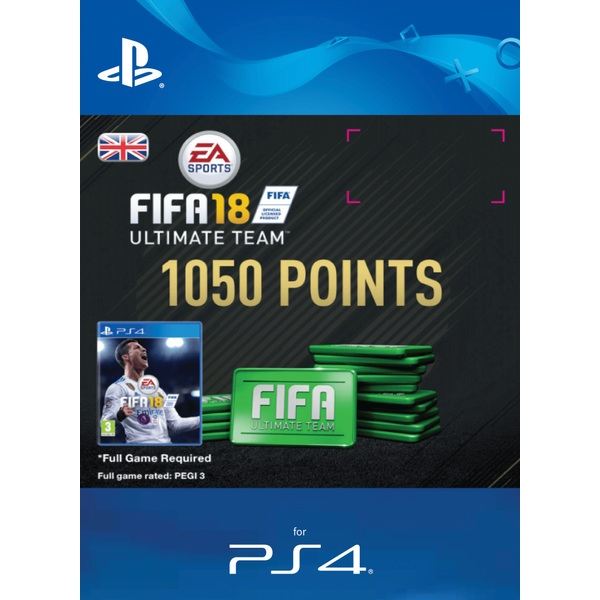 1050 FIFA 18 Points Pack PS4 Digital Download