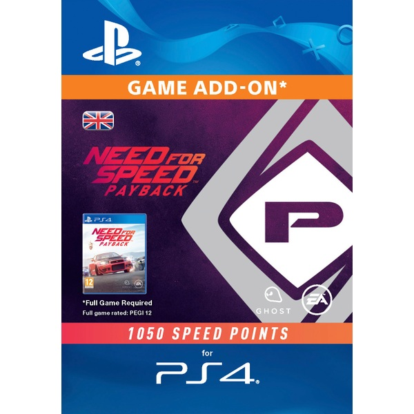 Need For Speed Payback: 1050 Speed Points PS4 Digital Download