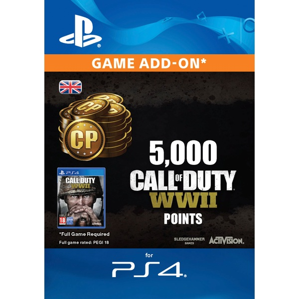 5000 Call of Duty: WWII Points PS4 Digital Download