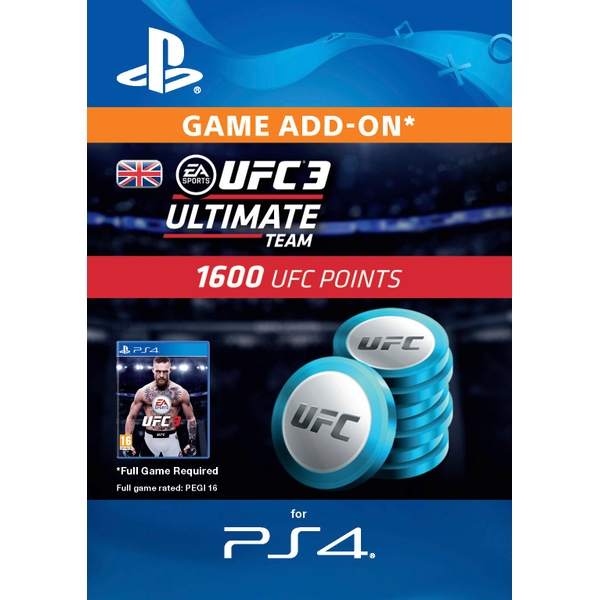 UFC 3 - 1600 UFC Points (PS4 Digital Download)