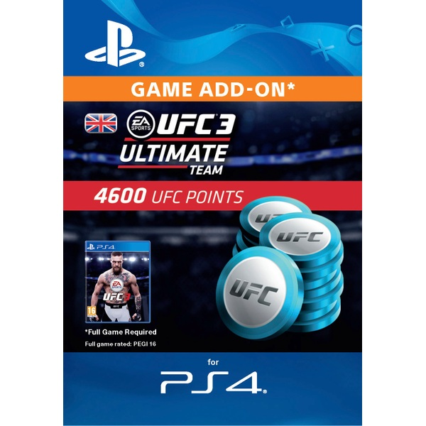 UFC 3 - 4600 UFC Points (PS4 Digital Download)