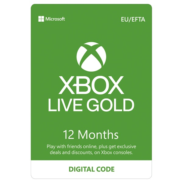Xbox Live 12 Months Gold Membership Digital Download